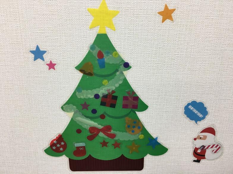 クリスマスツリーのウォールステッカー